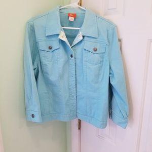 Women's size 16 Hearts of Palm blue denim jacket
